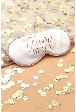 Cream Team Bride Satin Sleep Mask