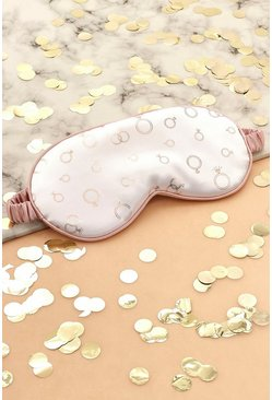Cream Bridal Ring Satin Eye Mask