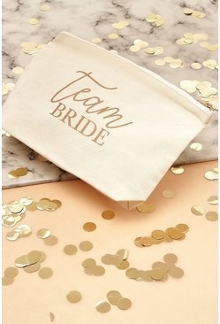 Trousse portatrucco Team Bride in tela, Crema