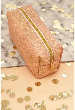 Rose gold Chunky Glitter Makeup Bag