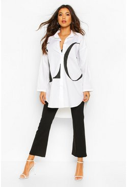 Womens White LOVE Oversized Shirt