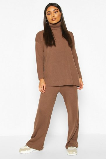 Toffee Premium Knit Roll Neck Set