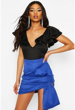 Cobalt Recycled Bow Detail Mini Skirt