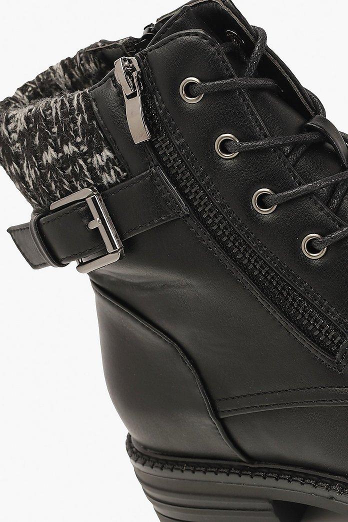 de à en revers avec mailleBoohoo Chaussures lacets randonnée OPuTkXiZ