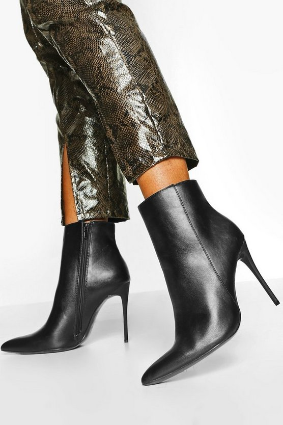 Pointed Toe Skinny Heel Shoe Boots