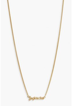 Gold Sagittarius Slogan Necklace