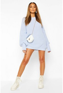 Baby blue Oversized Knitted Dress