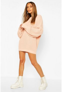 Baby pink Oversized Knitted Dress
