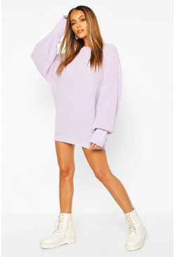 Lilac Oversized Knitted Dress