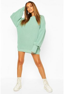 Sage Oversized Knitted Dress