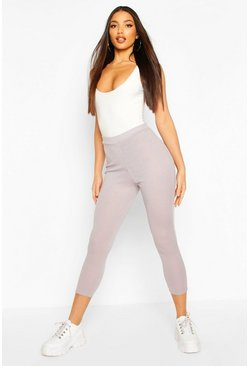 Grey Rib Knit Legging