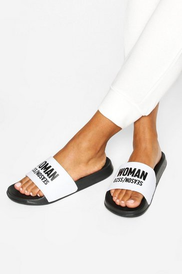 Black Woman Season Slogan Sliders