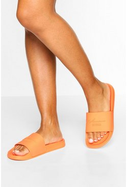 Mules en relief Woman officielles, Orange