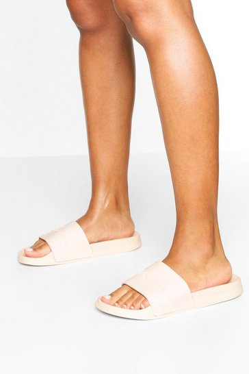 Nude Embossed Woman Sliders