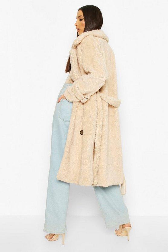 Teddy Faux Fur Trench Coat