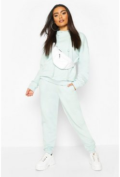 Fleece Back Oversized Jogger, Blue