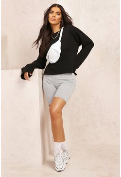 Black Mix & Match Edition Cropped Sweat