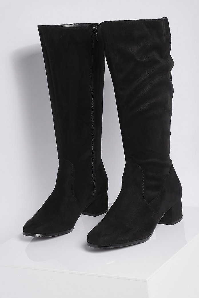 Shoppa NLY Shoes Wide Knee High Boot Svart | Boots