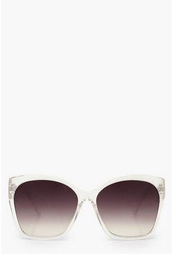 Oversized Sunglasses, Clear