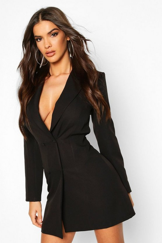 Open Back Blazer Dress