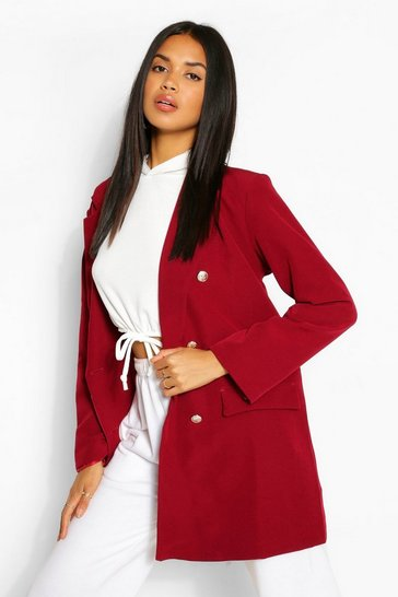 Berry Oversize Double Breasted Blazer