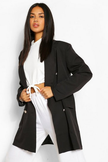 Black Oversize Double Breasted Blazer