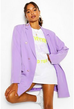 Lilac Oversize Double Breasted Blazer