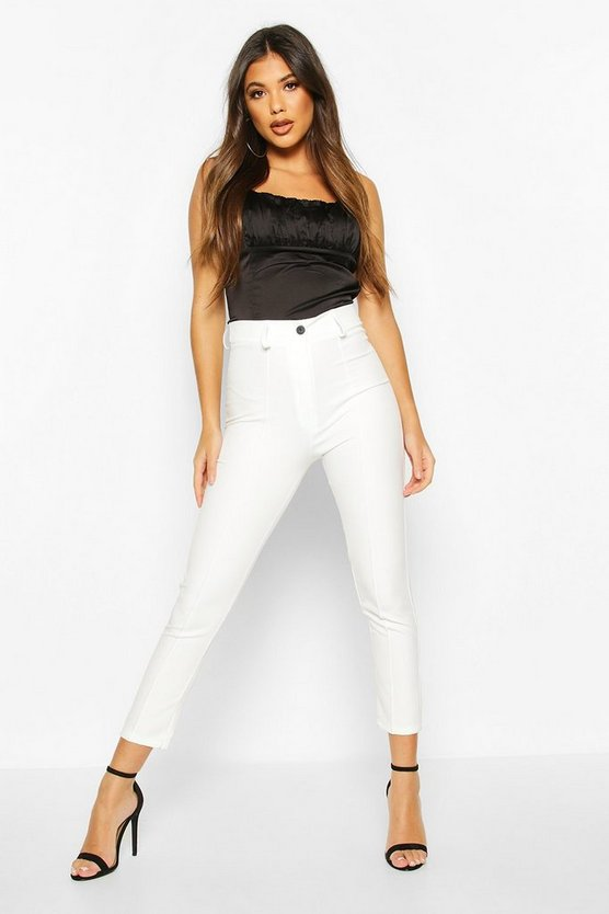Ivory Seam Detail Tailored Trouser