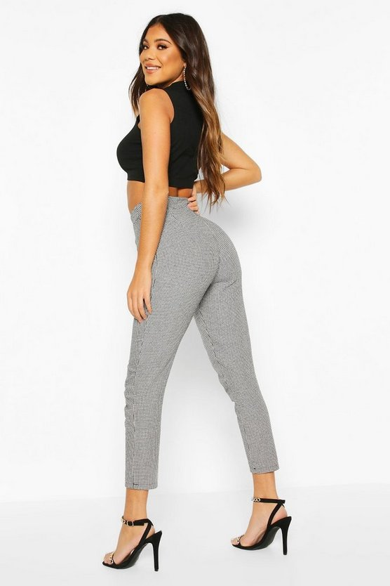 Dogtooth Pleat Front Tailored Trouser