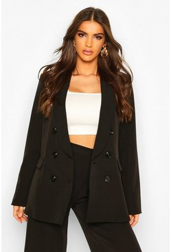 Oversized Boyfriend Blazer, Black
