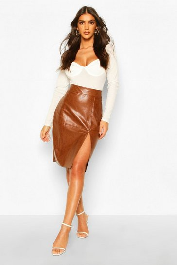 Tan Pu Midi Skirt