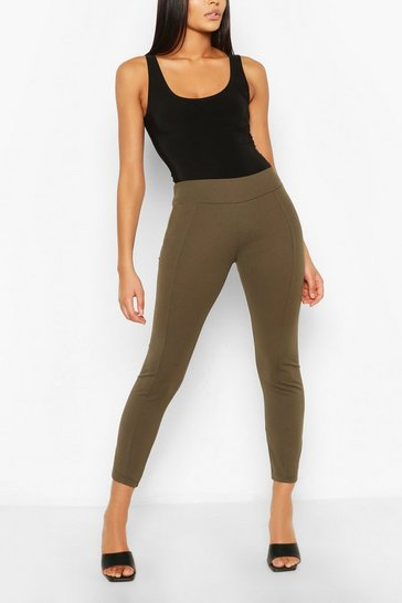 Khaki Skinny Stretch Tailored Trouser