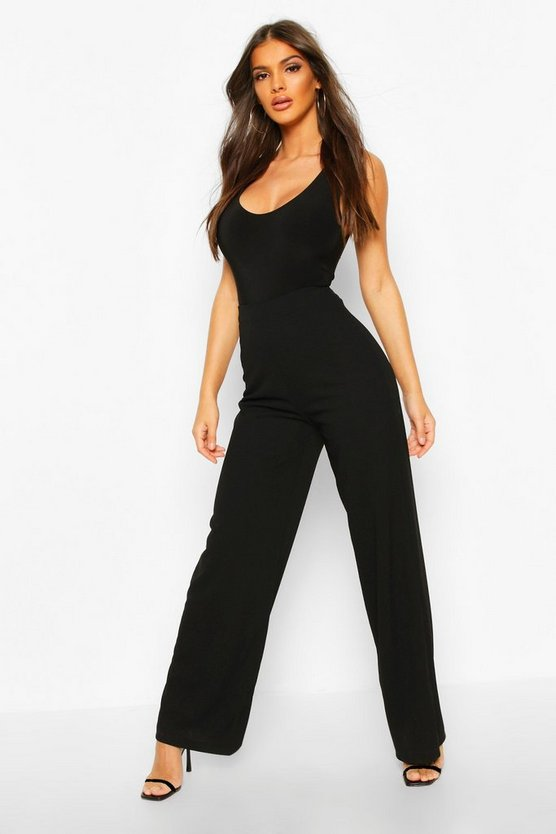 Wide Leg Stretch Tailored Trouser
