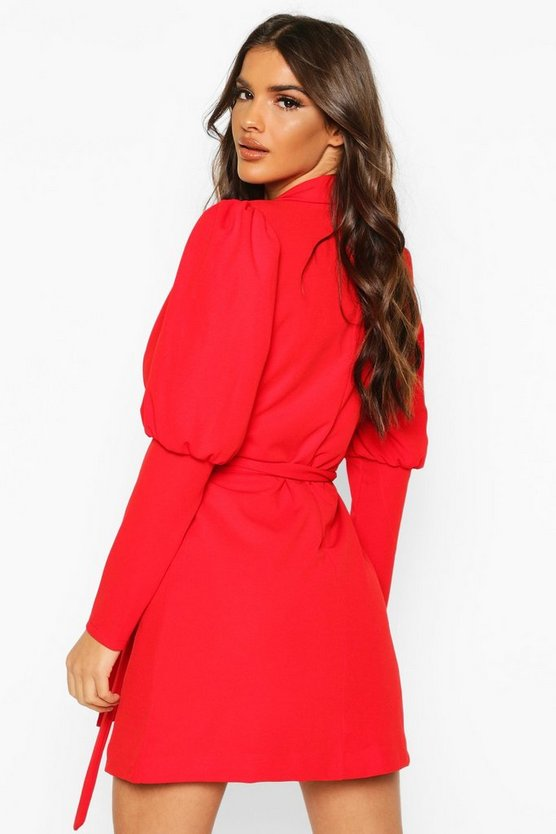 Puff Volume Sleeve Blazer Dress