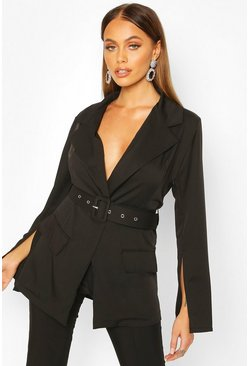 Belt Blazer, Black