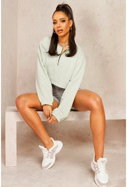 Sage Mix & Match Edition Zip Crop Sweat