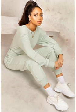 Sage Mix & Match Edition Sweat Jogger Jumpsuit
