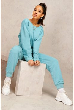Teal Mix & Match Edition Sweat Jogger Jumpsuit