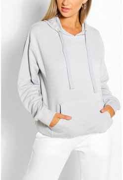 Grey Mix & Match Edition Oversized Hoodie Dress
