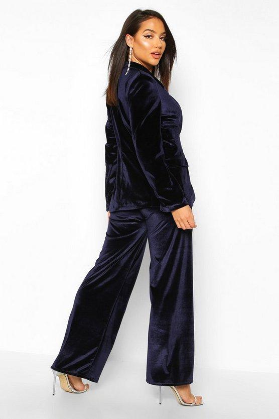 Velvet Wide Leg Trouser