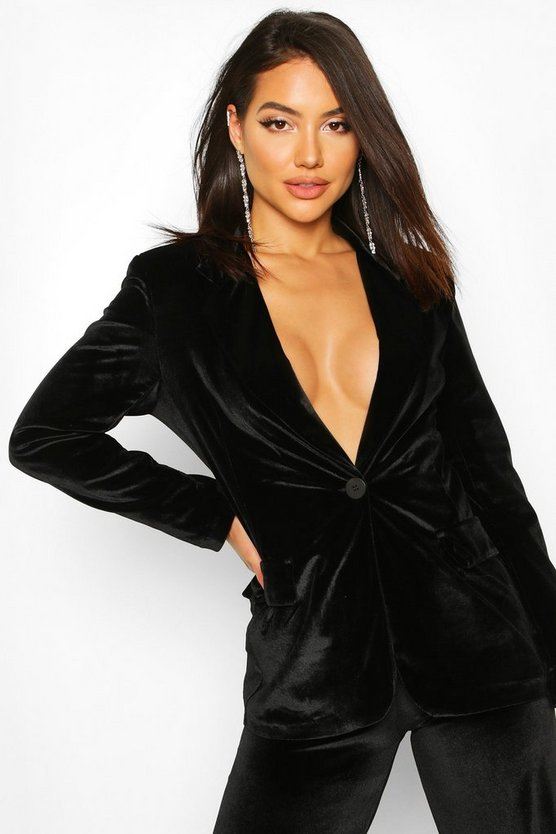 Black Velvet Tailored Blazer