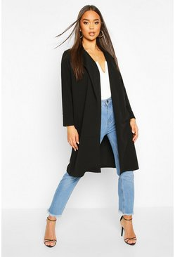 Dam Black Tailored Duster Coat