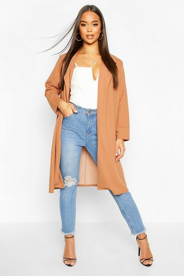 Camel Tailored Duster Coat