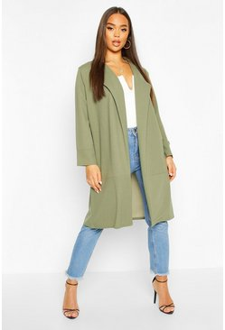 Khaki Tailored Duster Coat
