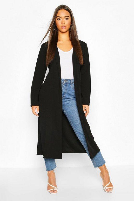 Maxi Crepe Duster Coat