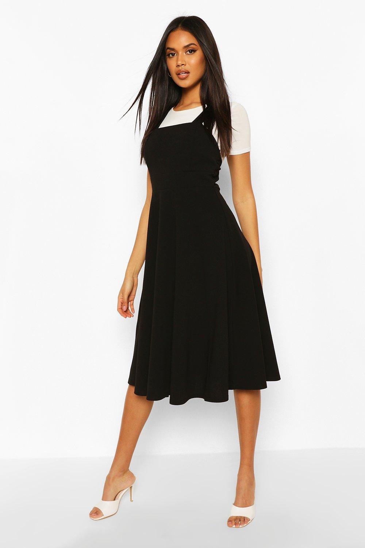 50s Dresses UK | 1950s Dresses, Shoes & Clothing Shops Womens Pinafore Midi Skater Dress - Black - 12 $14.40 AT vintagedancer.com