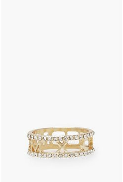 Roman Numeral Ring, Gold