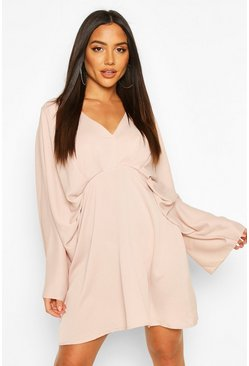 Extreme Kimono Sleeve Skater Dress, Rose