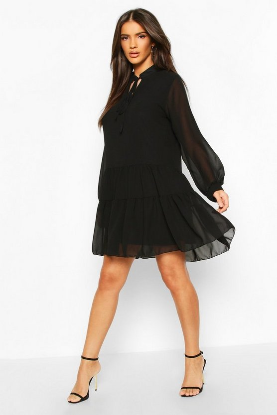 Tie Detail Smock Dress