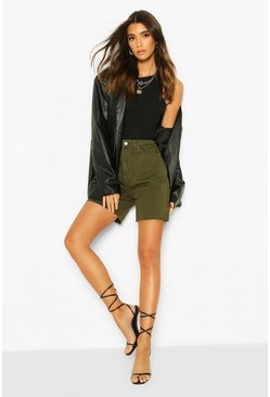 High Waist Dad Short, Khaki